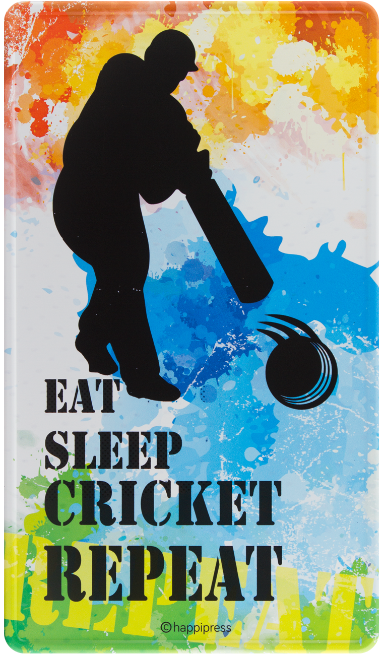 Happilife Wall Decor Posters Cricket Junkie Metal